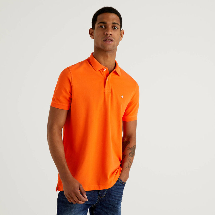 Polo regular fit laranja