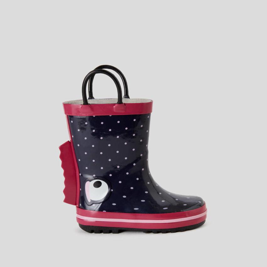 Botas de chuva de borracha