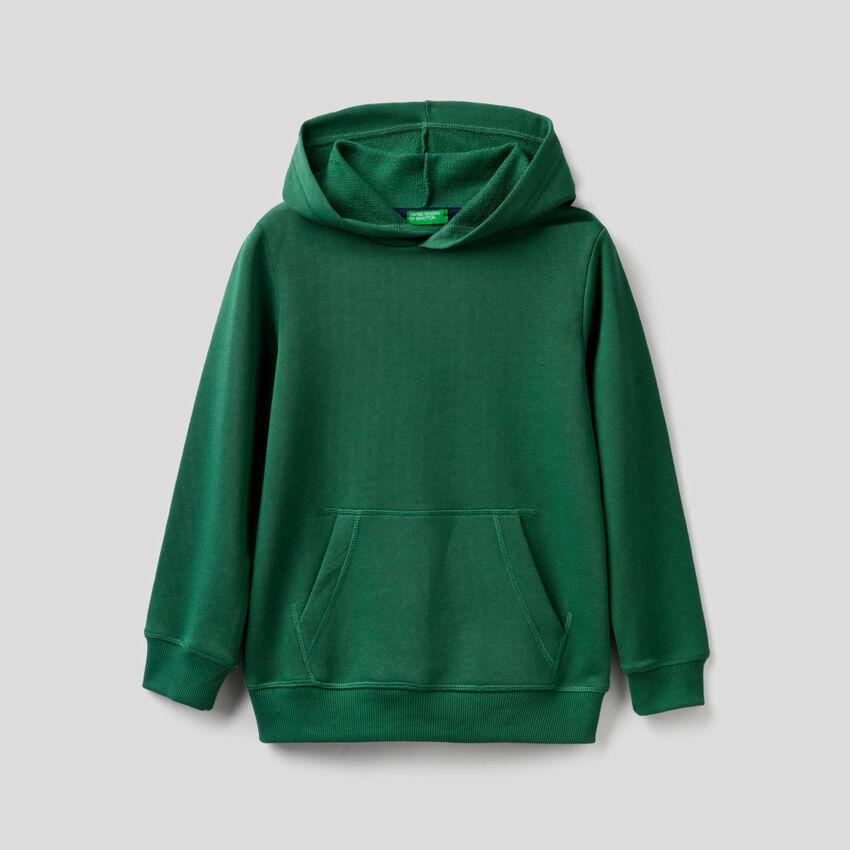 Sweat verde-escuro com capuz