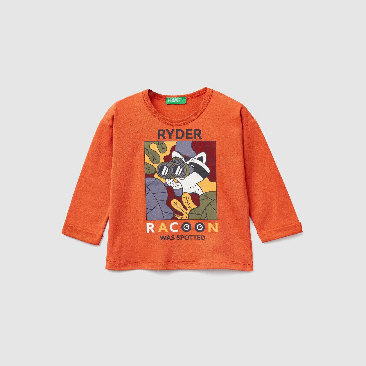 T-shirt de algodão orgânico