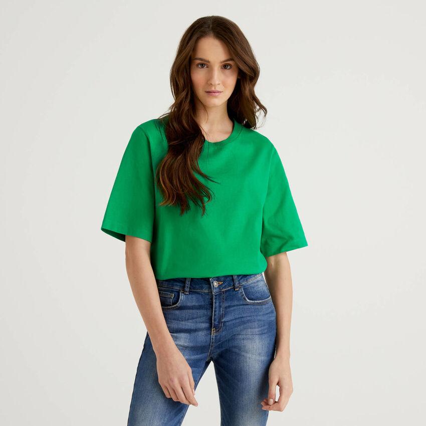 T-shirt boxy fit 100% algodão