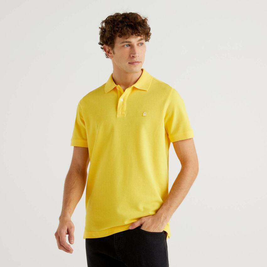Polo regular fit amarela personalizável