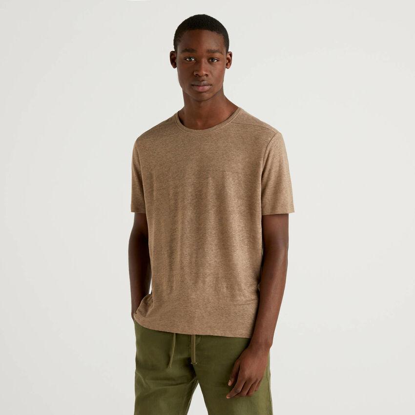 T-shirt em puro linho