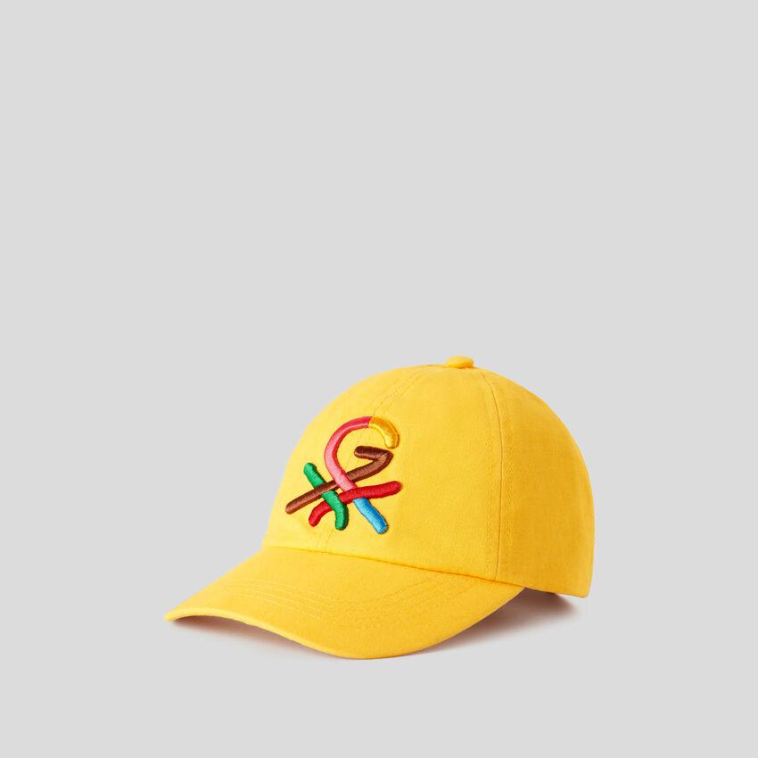 Boné amarelo com logótipo bordado by Ghali