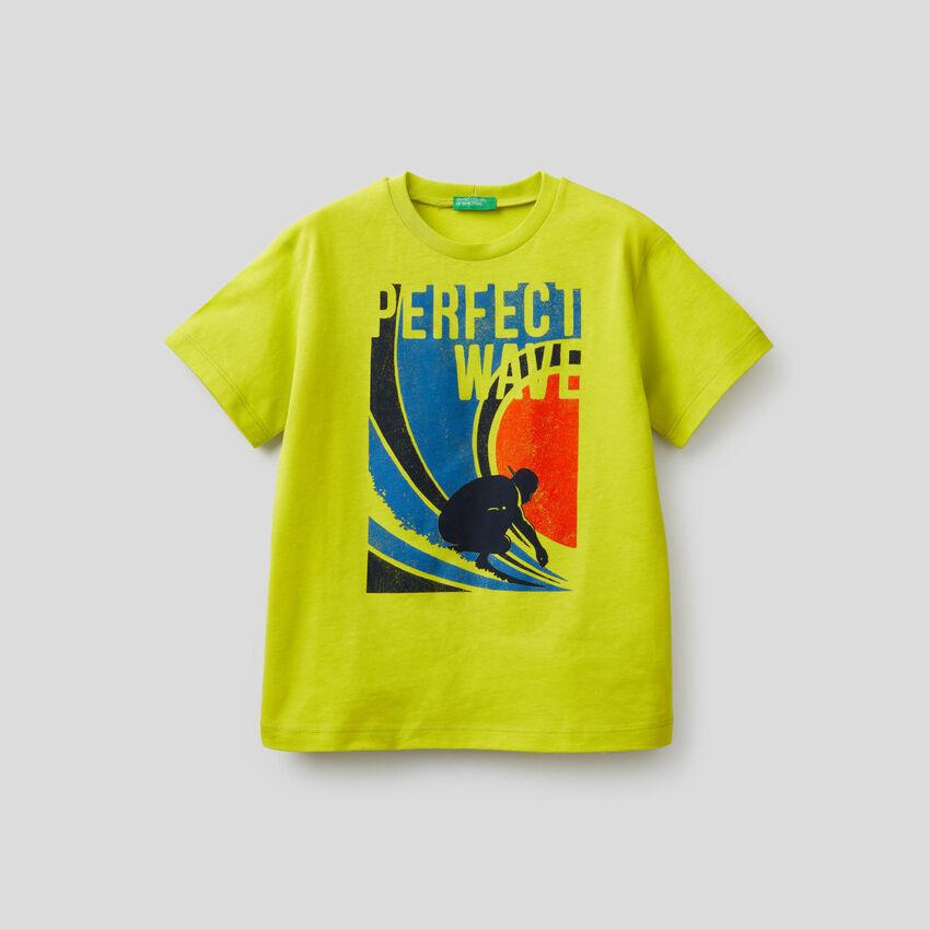 T-shirt em algodão puro com estampa
