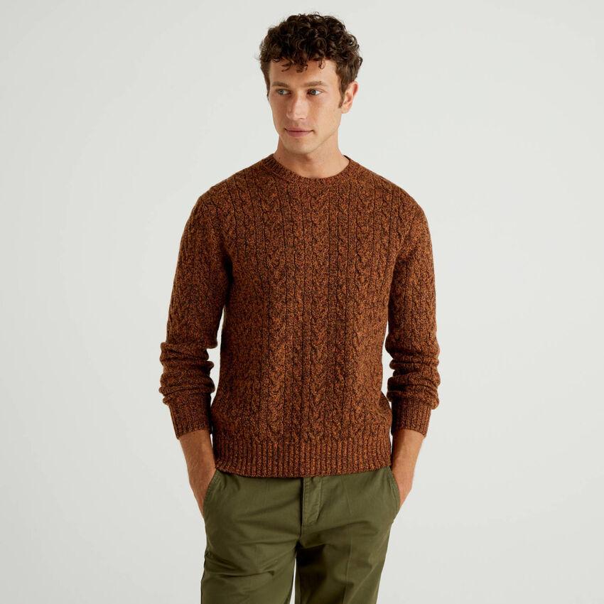 Camisola em pura lã Shetland