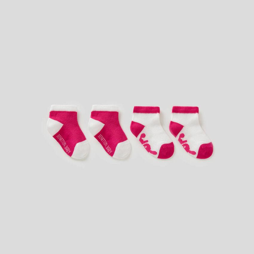 Set de meias bicolor