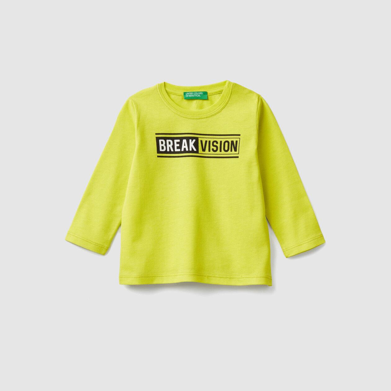 T-shirt de algodão com estampa