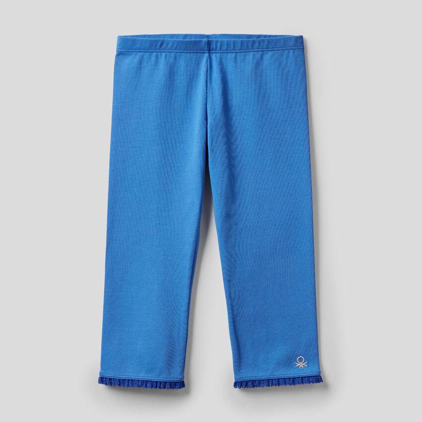 Leggings 3/4 em algodão stretch
