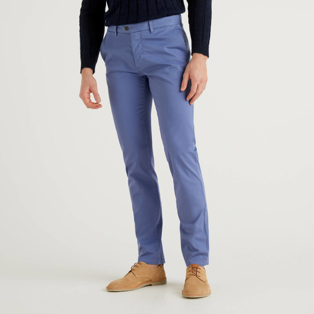 Chinos stretch slim fit azul