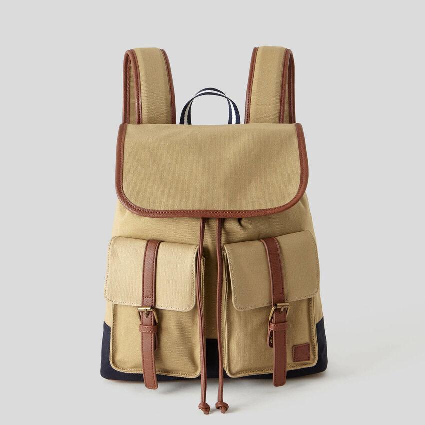 Maxi mochila em tecido