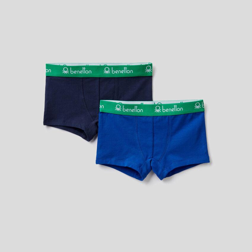 Dois boxers cor sólida