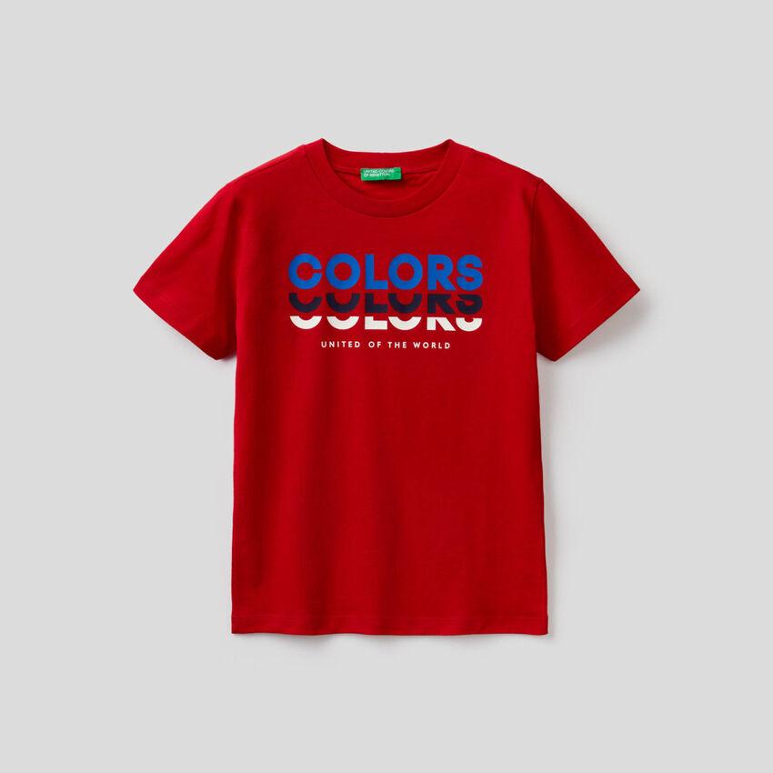 T-shirt em 100% algodão orgânico
