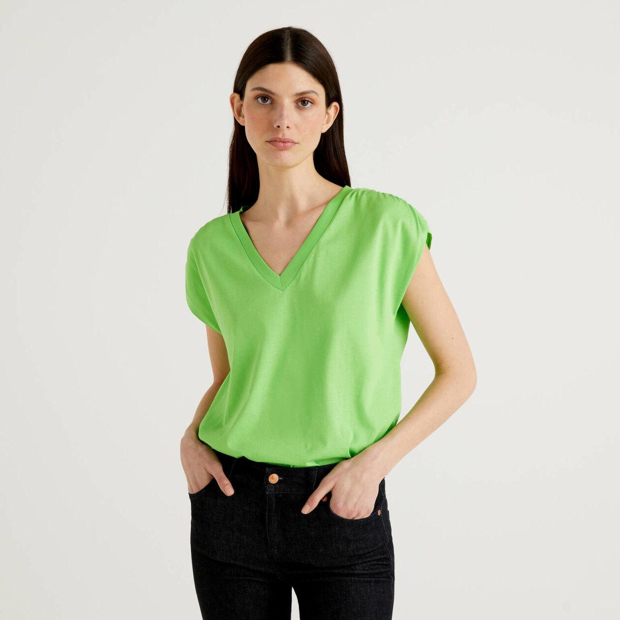 T-shirt de manga curta em 100% algodão