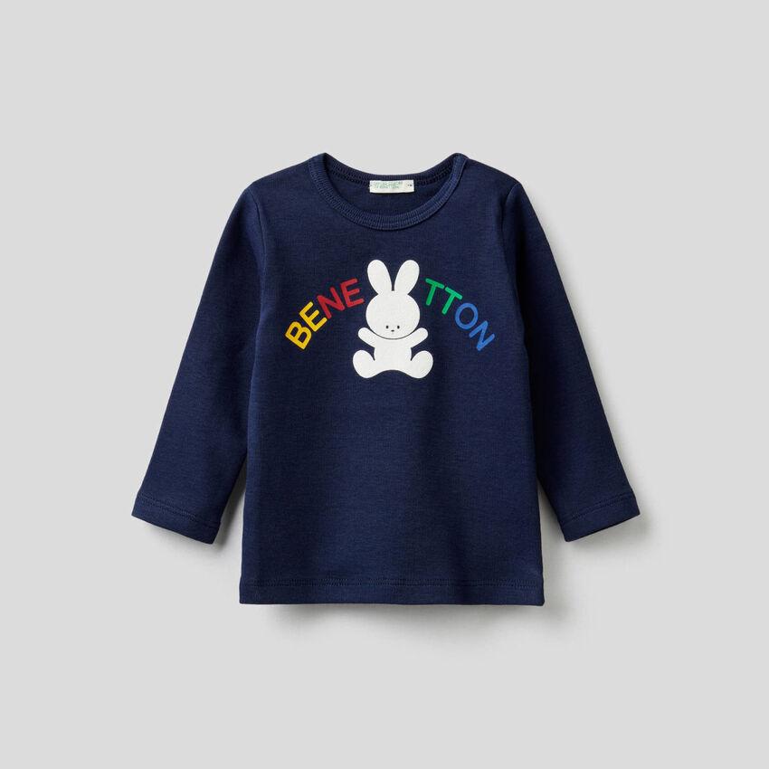 T-shirt de manga comprida com estampa