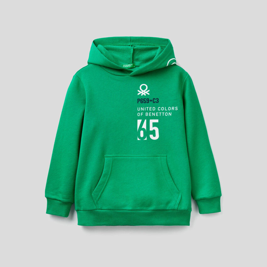 Sweat verde com capuz