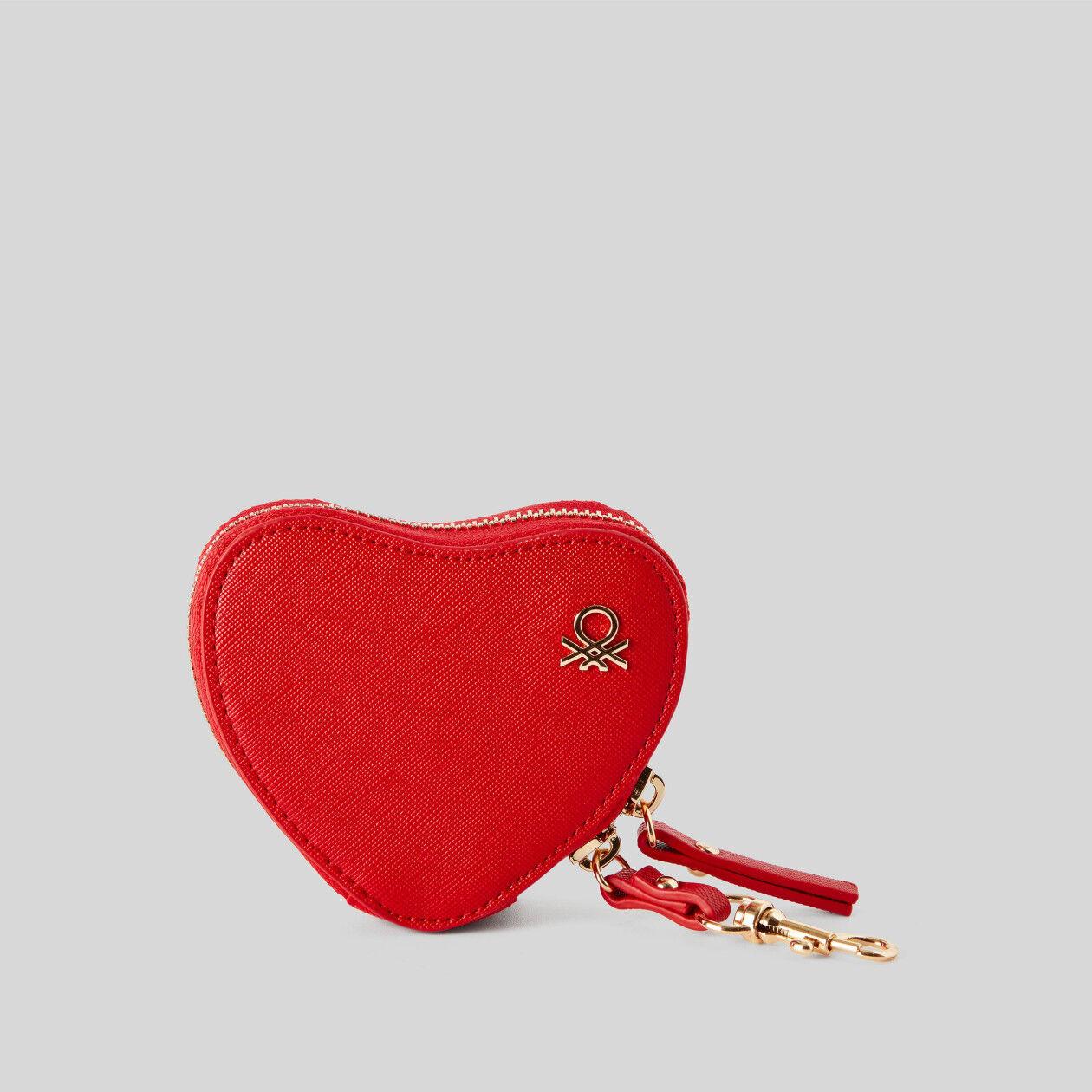 Porta-moedas em forma de coração