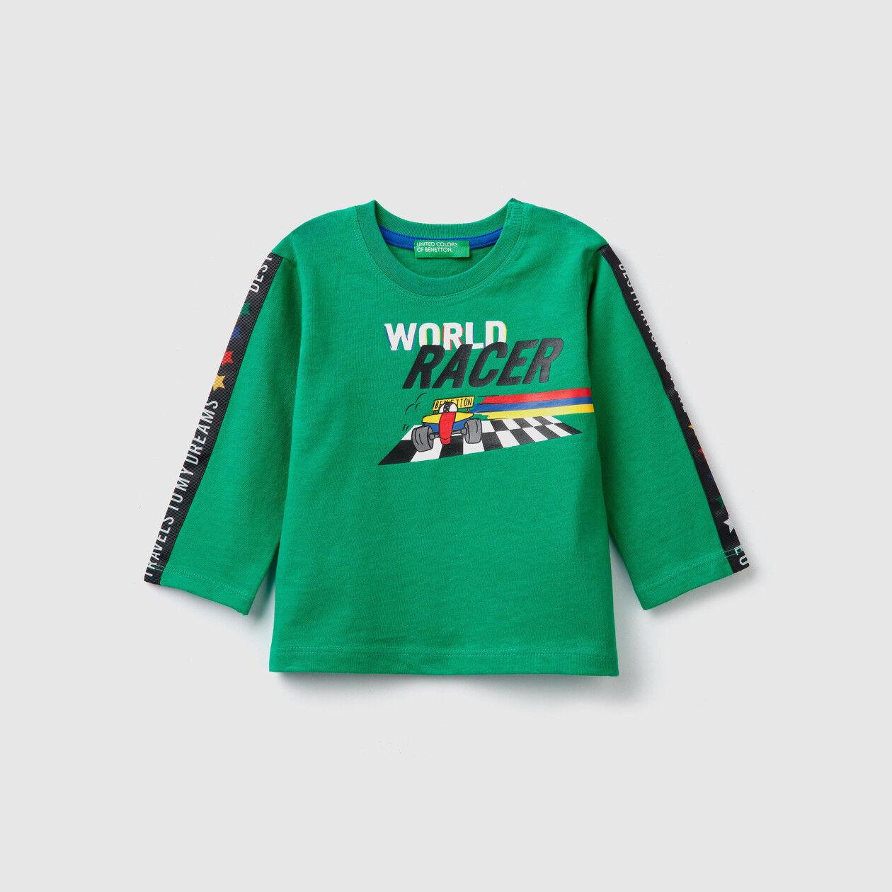 T-shirt com estampa slogan