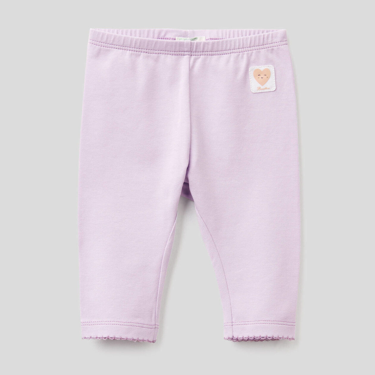 Leggings em algodão stretch