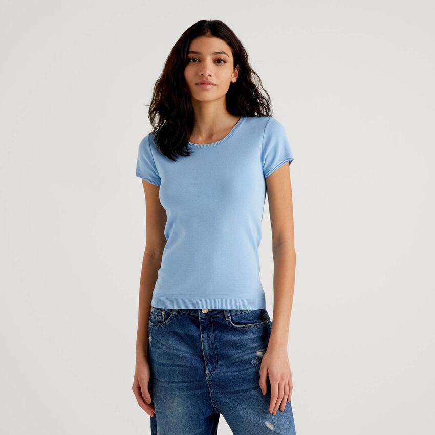 Camisola de manga curta em 100% algodão
