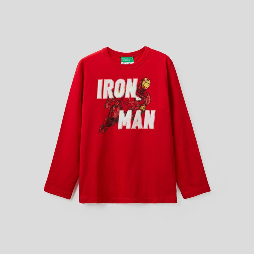 T-shirt Marvel em 100% algodão