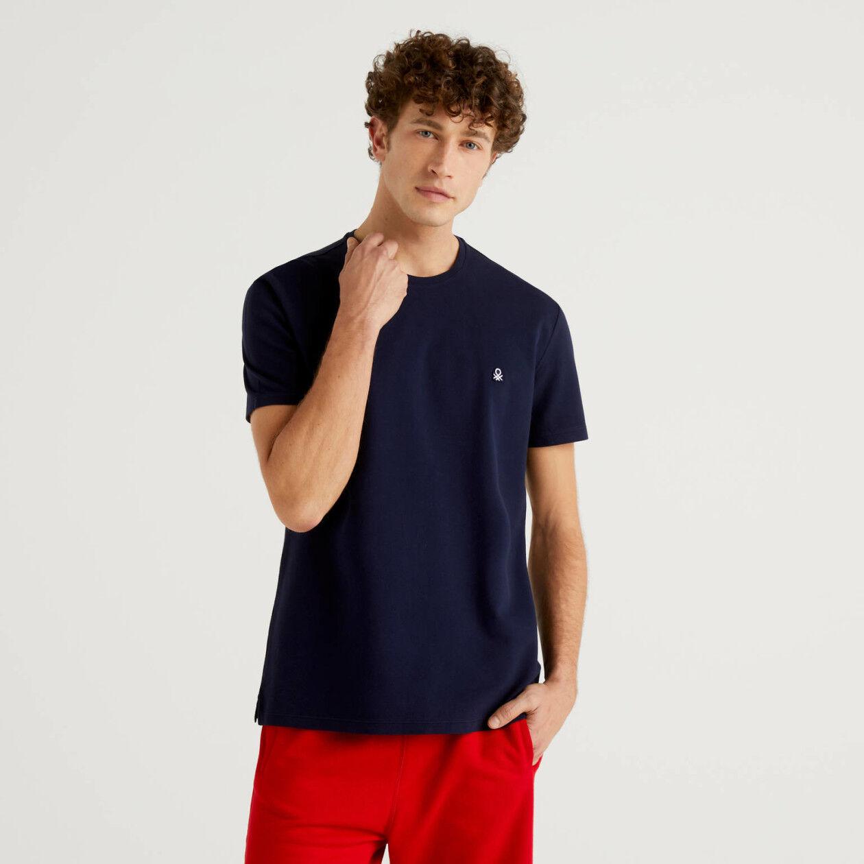 T-shirt em 100% algodão piqué