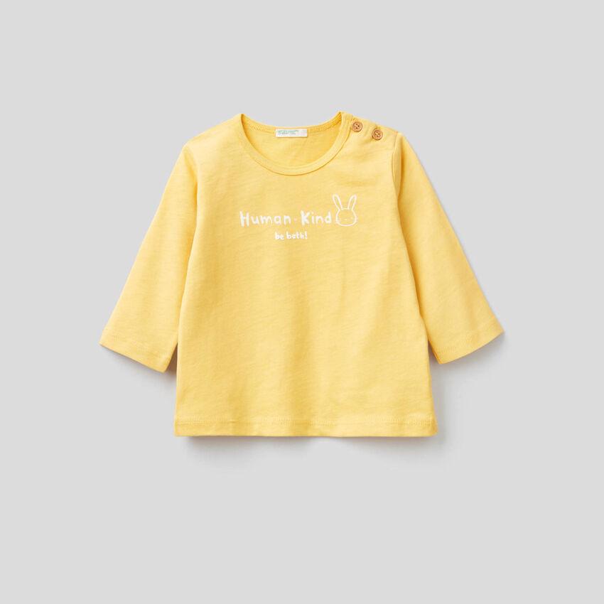 T-shirt em 100% algodão orgânico macio