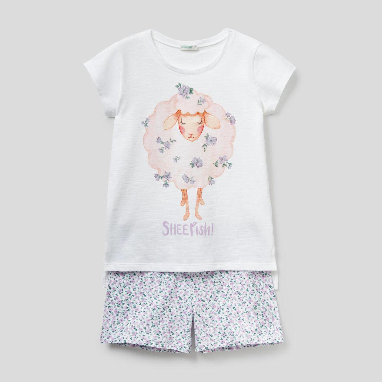Pijama curto 100% algodão