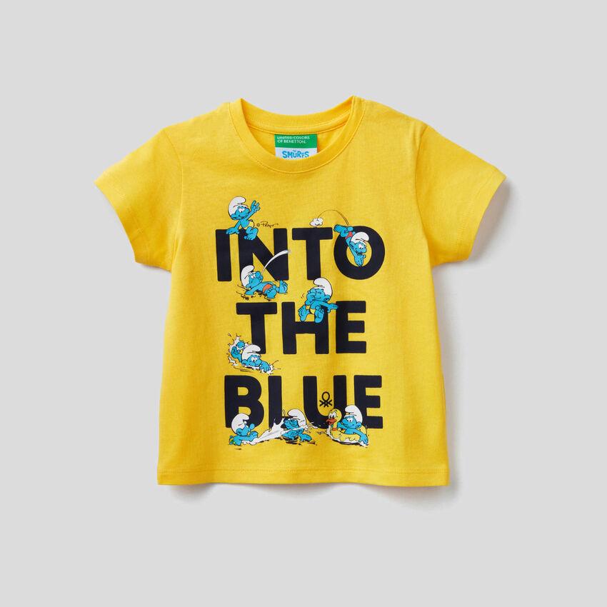 T-shirt com estampa Os Smurfs