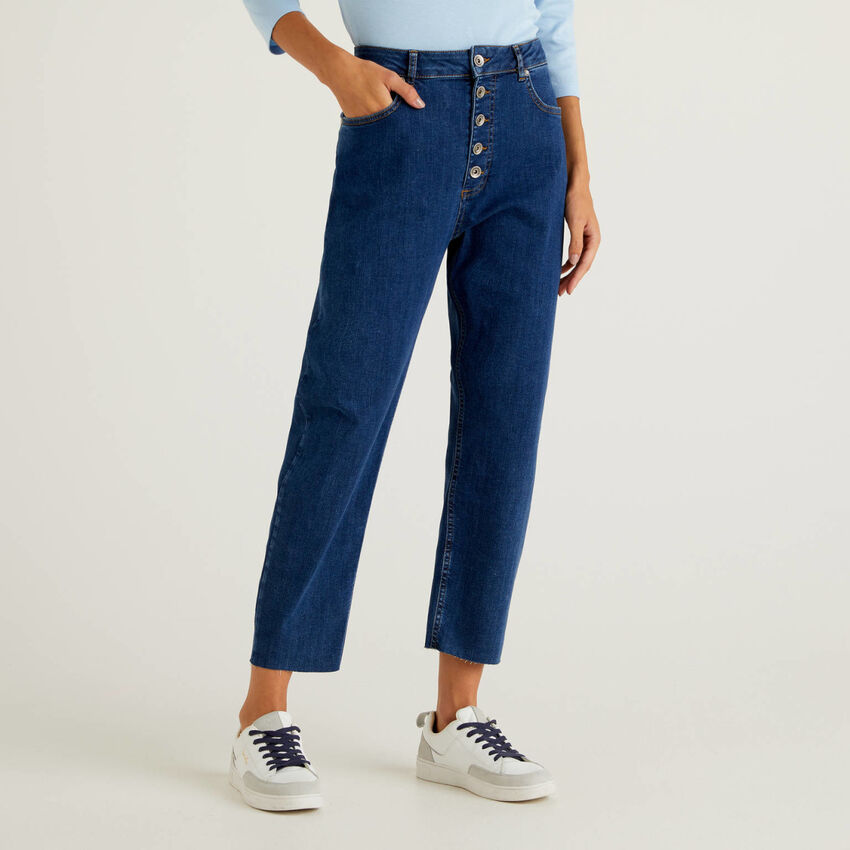 Jeans cinco bolsos mom fit