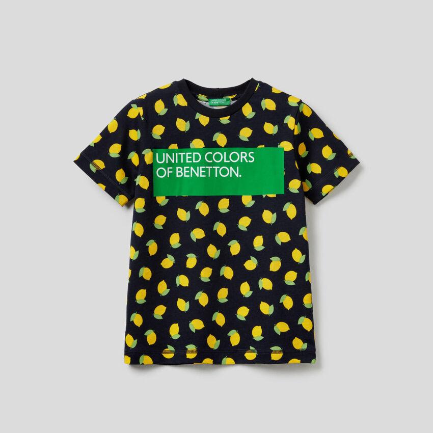 T-shirt estampada em 100% algodão
