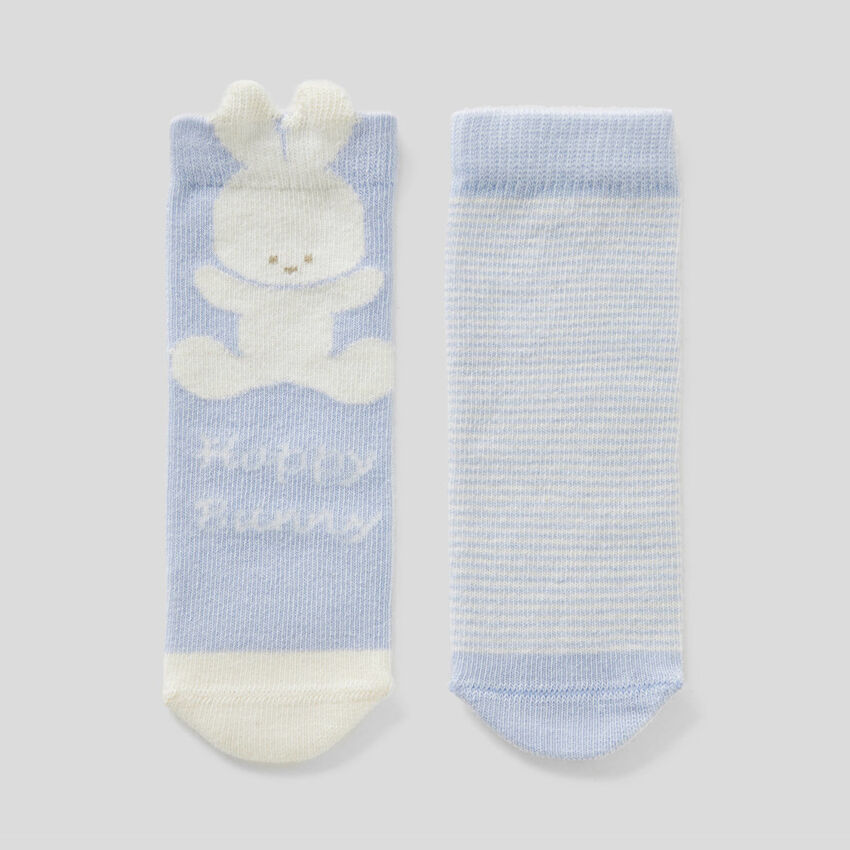 Set de meias em mescla de algodão orgânico