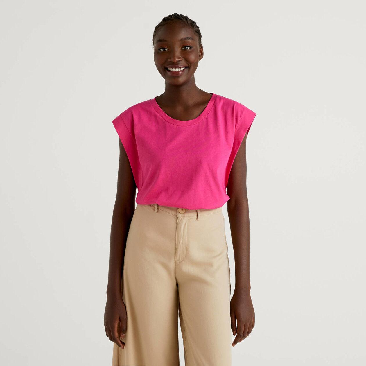 T-shirt em algodão com manga curta
