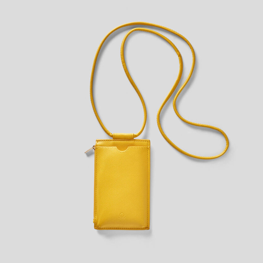 Bolsa tiracolo porta-telemóvel e cartões