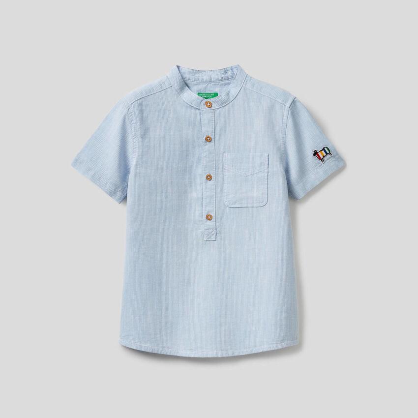 Camisa de manga curta 100% algodão