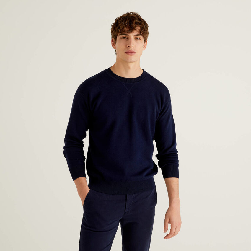 Camisola reversível em algodão tricot