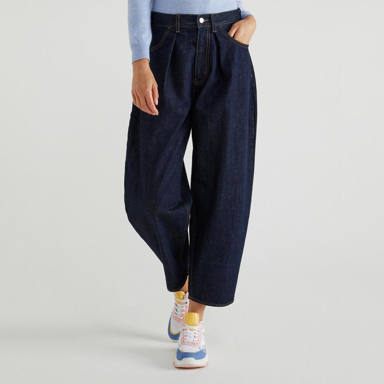 Jeans boyfriend com pregas