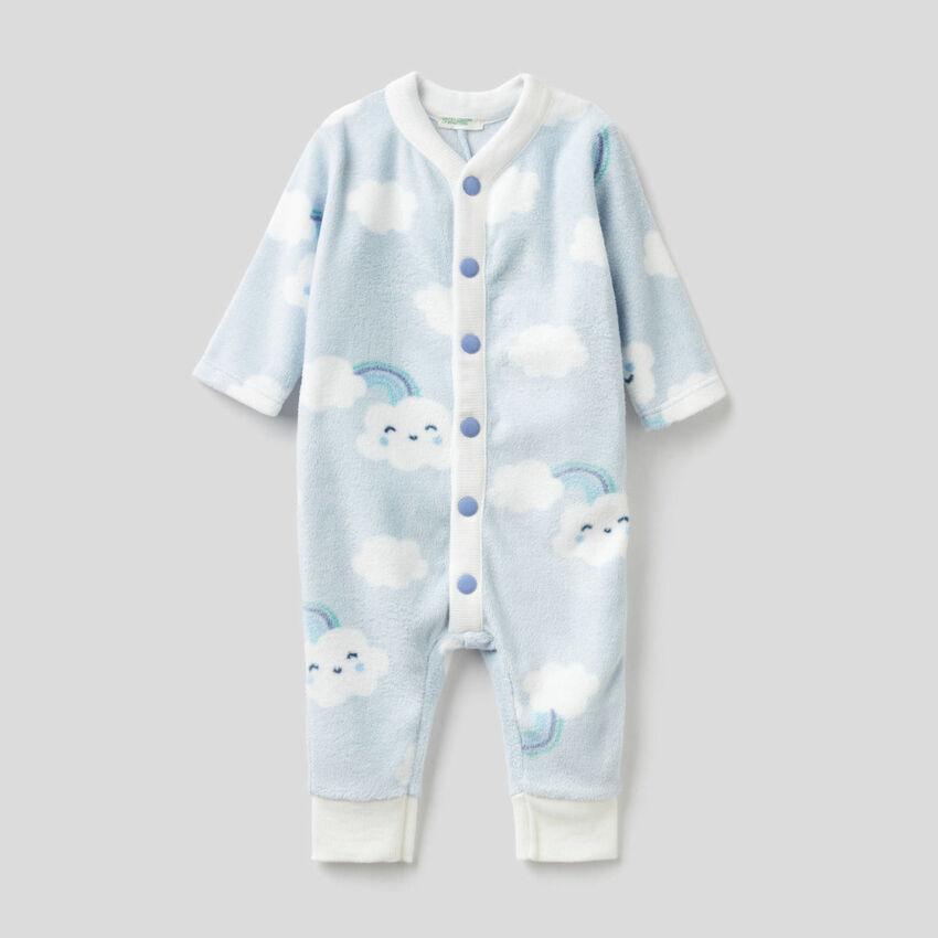 Babygrow padrão em tecido polar macio