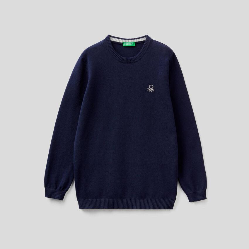 Camisola em algodão puro com logótipo