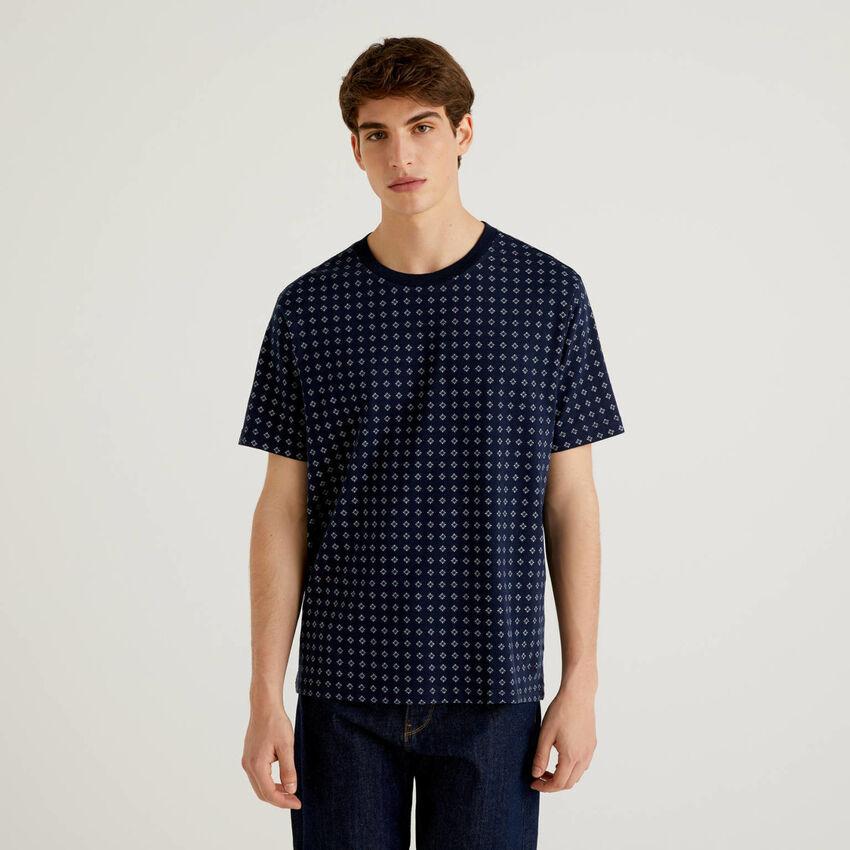 T-shirt padrão em 100% algodão