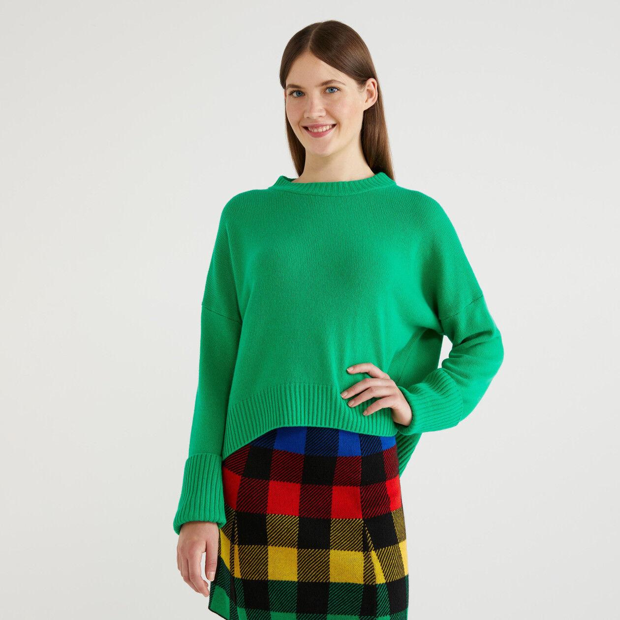 Camisola em mescla de lã