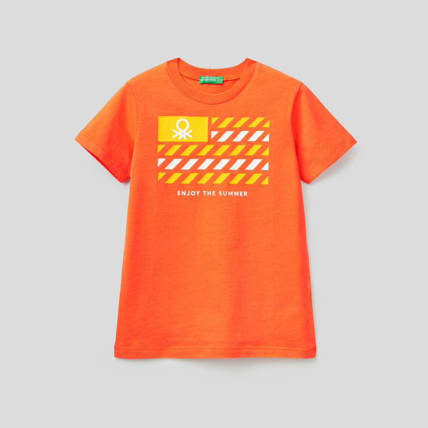 T-shirt em algodão com estampa