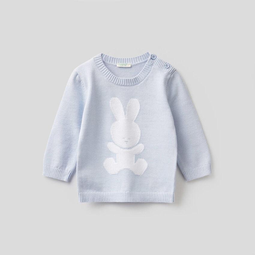 Camisola gola redonda 100% algodão