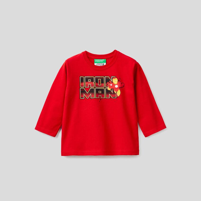 T-shirt 100% algodão com estampa Marvel