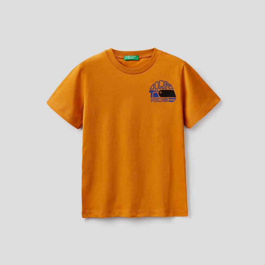 T-shirt de manga curta em algodão orgânico