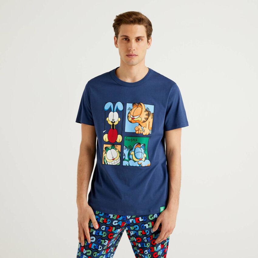 T-shirt Garfield em algodão puro