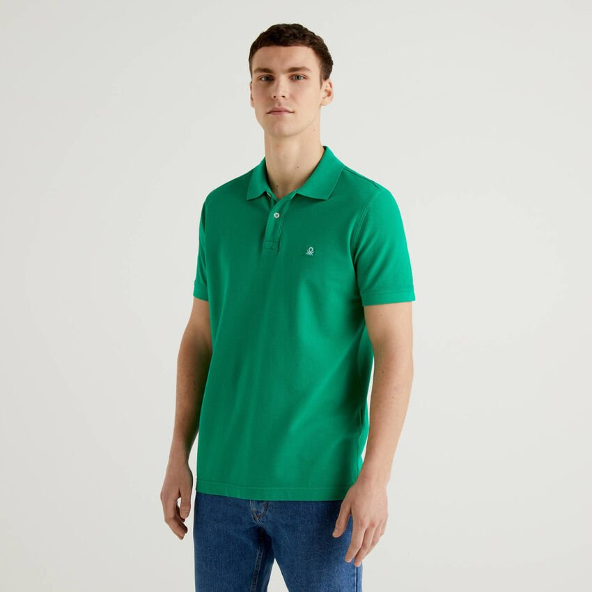 Polo regular fit verde personalizável