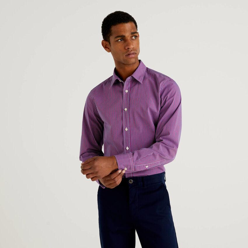 Camisa slim fit 100% algodão orgânico