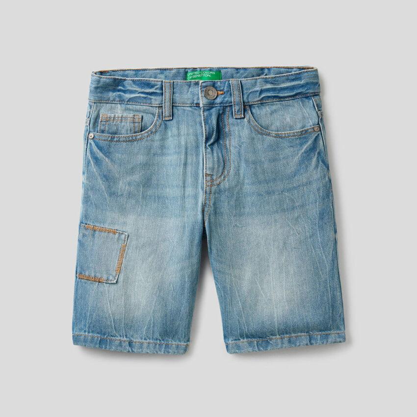 Bermudas em jeans 100% algodão