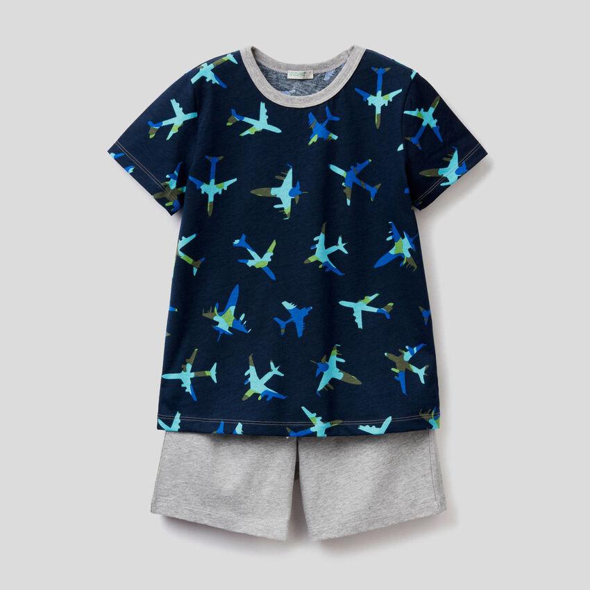 Pijama t-shirt e bermudas